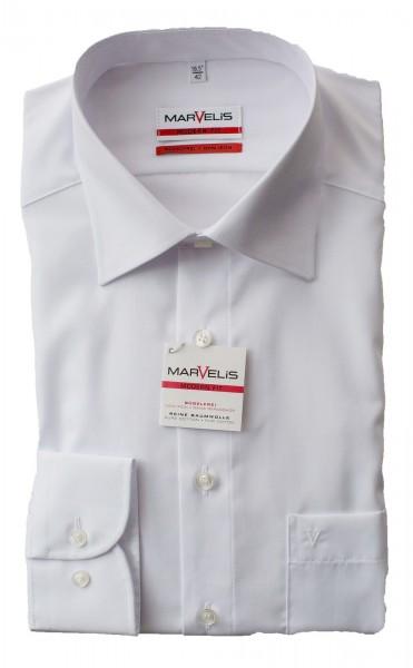 Weißes Hemd Marvelis Modern Fit