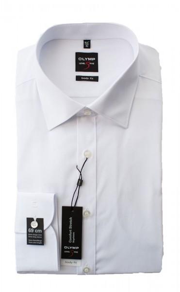 Weißes Hemd Olymp Body Fit Level 5 extra Langarm 69cm