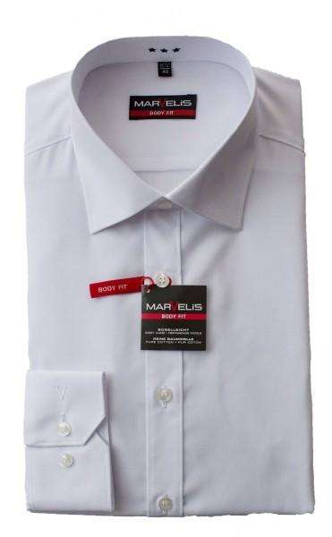 Weißes Hemd Marvelis Body Fit Langarm