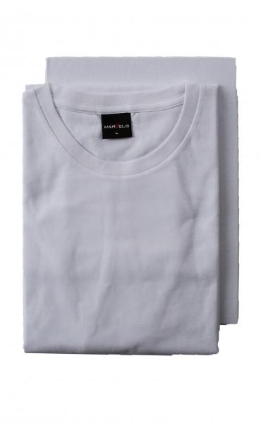 Weißes T-Shirt Marvelis Doppelpack Rundhals