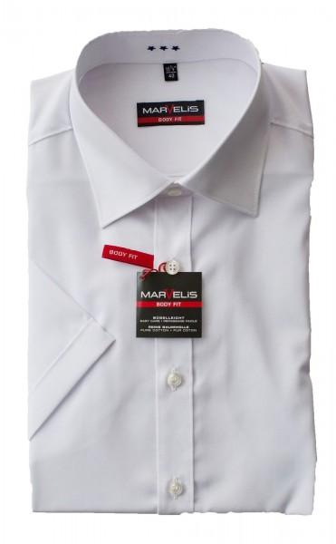 Weißes Hemd Marvelis Body Fit Kurzarm