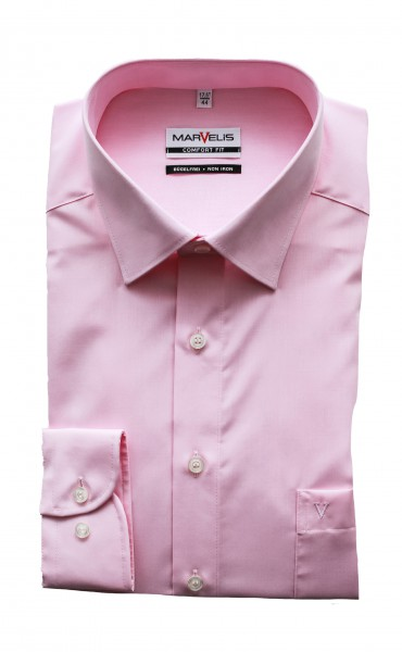 Marvelis Comfort Fit Langarm Chambray ROSA