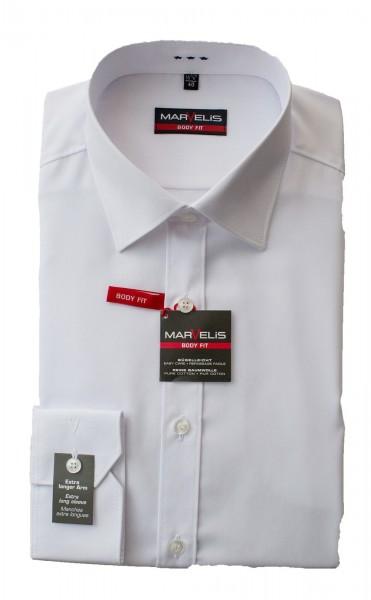 Weißes Hemd Marvelis Body Fit Extra Langarm 69cm