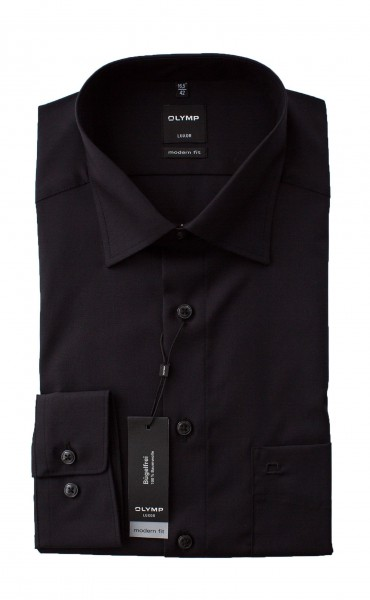 Schwarzes Hemd Olymp Modern Fit Luxor Langarm