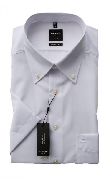 Weißes Hemd Olymp Modern Fit Luxor Kurzarm Button-Down