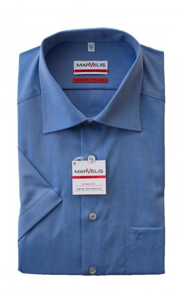 Blaues Hemd Marvelis Modern Fit Kurzarm