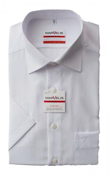 Weißes Hemd Marvelis Modern Fit Kurzarm