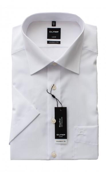 Weißes Hemd Olymp Modern Fit Luxor Kurzarm