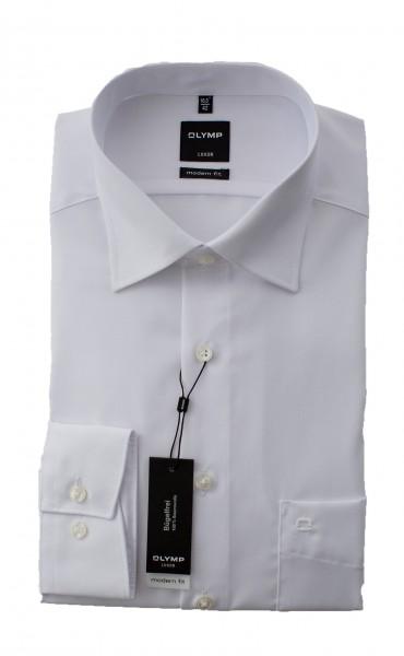 Weißes Hemd Olymp Modern Fit Luxor Langarm