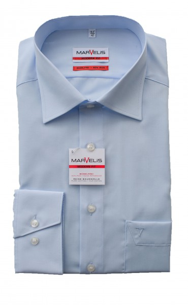 Blaues Hemd Marvelis Modern Fit