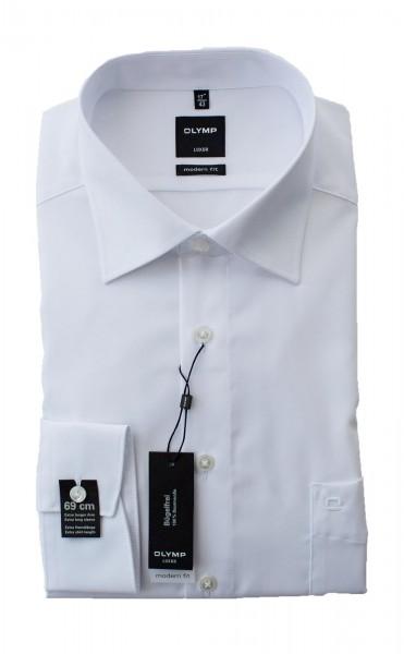 Weißes Hemd Olymp Modern Fit Luxor extra Langarm 69cm