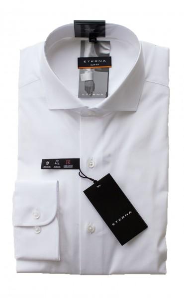 Weißes Hemd Eterna Slim Fit Langarm