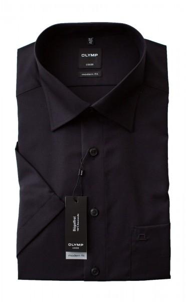 Schwarzes Hemd Olymp Modern Fit Luxor Kurzarm